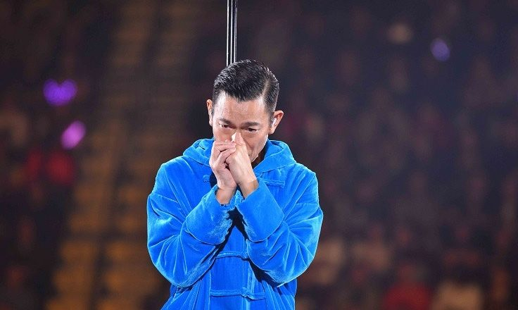 Andy Lau in Tears as He Cancels Concert Tour During Performance