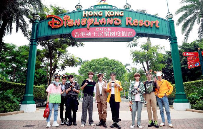 UNINE filming UNINE BOMBA! in Hong Kong Disneyland