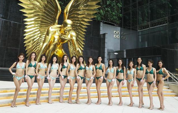 2019 Miss Hong Kong Pageant Swim Suit Edition_Kayan Choi's Tattoo is Missing