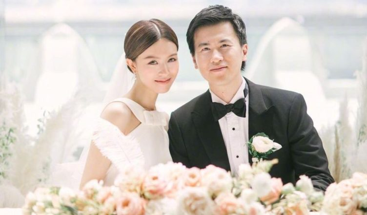 Janice Man Decked Out in Gold for Hong Kong Wedding