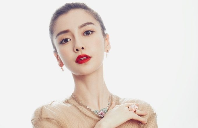 """Angelababy Shows Off Curves in """"Placemat"""" Dress"""