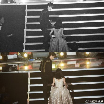 Wang Yibo Waited for Zanilia Zhao Liying to Help Her Walk Up the Stage